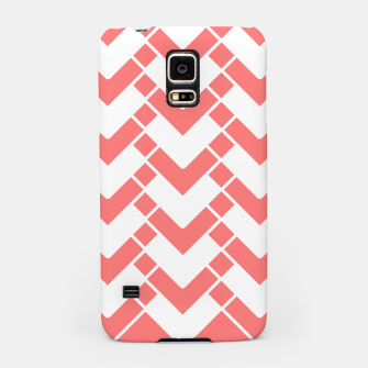 Imagen en miniatura de Abstract geometric pattern - pink and white. Samsung Case, Live Heroes