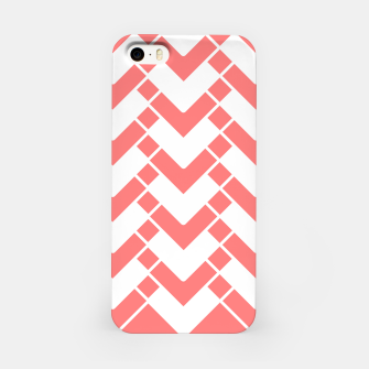 Imagen en miniatura de Abstract geometric pattern - pink and white. iPhone Case, Live Heroes