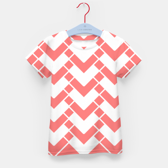 Imagen en miniatura de Abstract geometric pattern - pink and white. Kid's t-shirt, Live Heroes