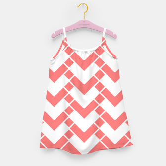 Miniature de image de Abstract geometric pattern - pink and white. Girl's dress, Live Heroes