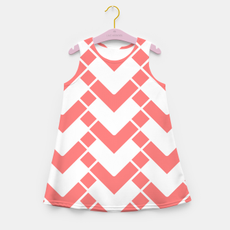Imagen en miniatura de Abstract geometric pattern - pink and white. Girl's summer dress, Live Heroes