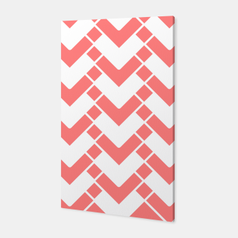 Miniaturka Abstract geometric pattern - pink and white. Canvas, Live Heroes