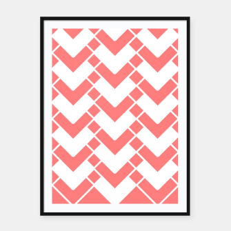 Imagen en miniatura de Abstract geometric pattern - pink and white. Framed poster, Live Heroes