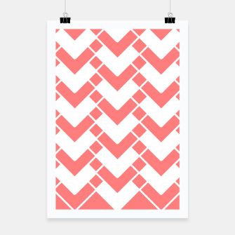 Imagen en miniatura de Abstract geometric pattern - pink and white. Poster, Live Heroes