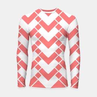 Miniature de image de Abstract geometric pattern - pink and white. Longsleeve rashguard , Live Heroes