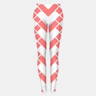 Imagen en miniatura de Abstract geometric pattern - pink and white. Leggings, Live Heroes