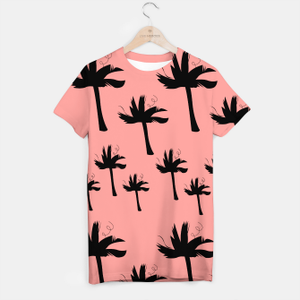 Miniatur Tshirt with design palms pink, Live Heroes