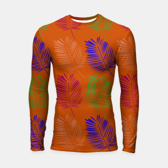 Miniature de image de Rashguard with design leaves exotic, Live Heroes