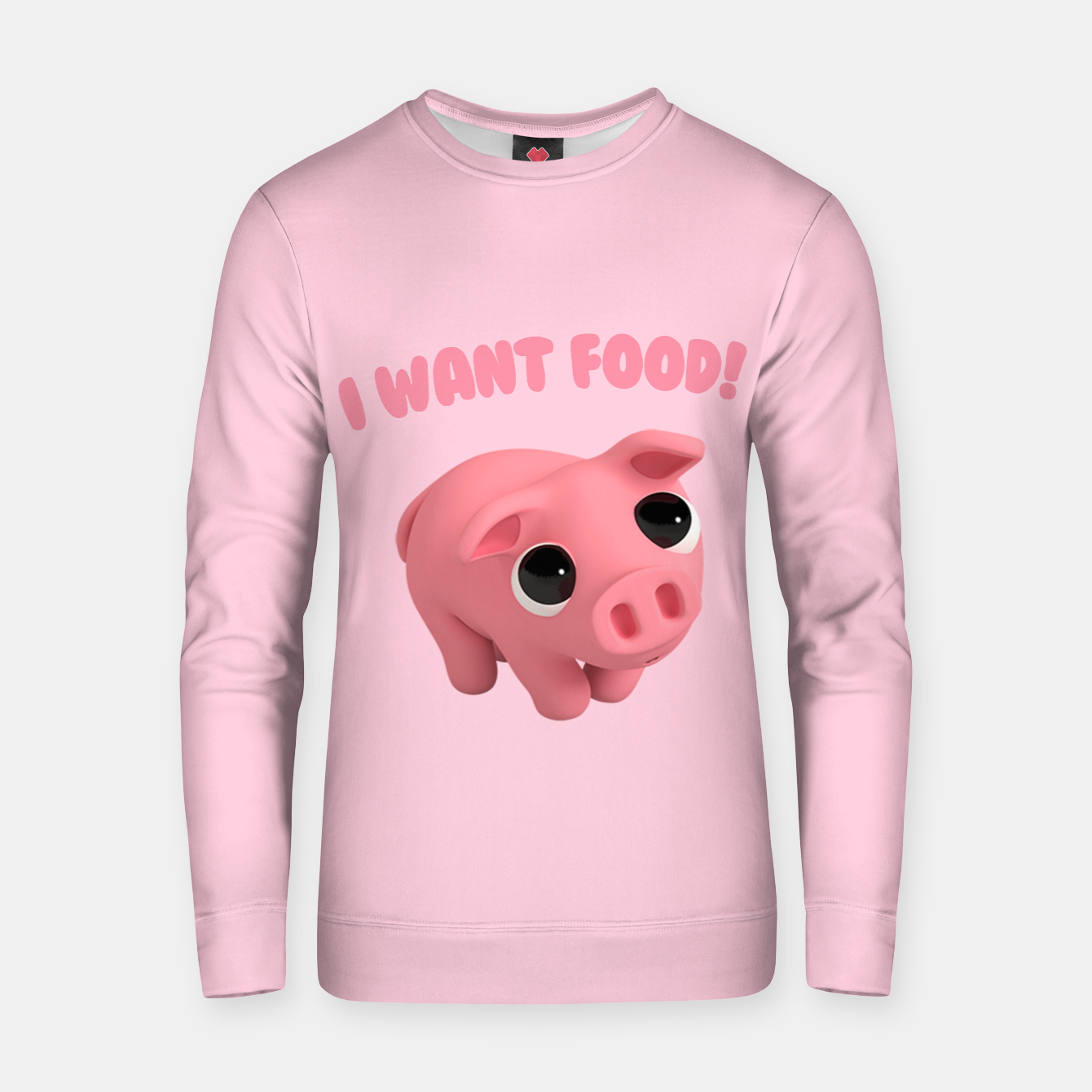 5da8174547cab1 Image of Rosa the Pig I WANT FOOD Cotton sweater - Live Heroes