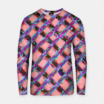 Imagen en miniatura de line pattern painting abstract background in pink blue purple Cotton sweater, Live Heroes