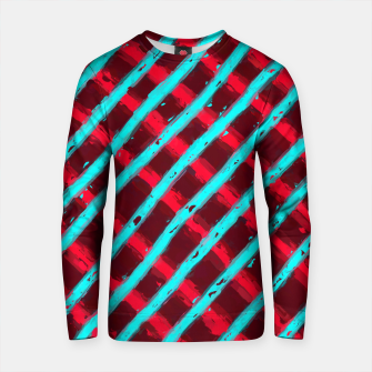Imagen en miniatura de line pattern painting abstract background in red and blue Cotton sweater, Live Heroes