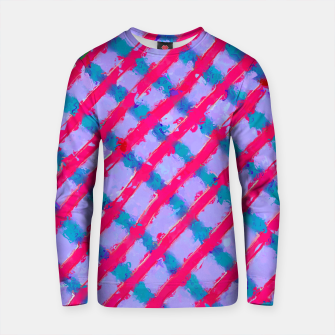 Imagen en miniatura de line pattern painting abstract background in red purple blue Cotton sweater, Live Heroes