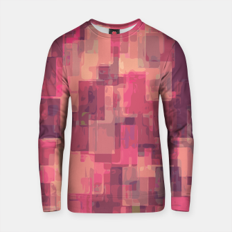 Imagen en miniatura de psychedelic geometric square pattern abstract in pink and purple Cotton sweater, Live Heroes