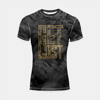 Thumbnail image of Get Lost in the Jungle Shortsleeve rashguard, Live Heroes