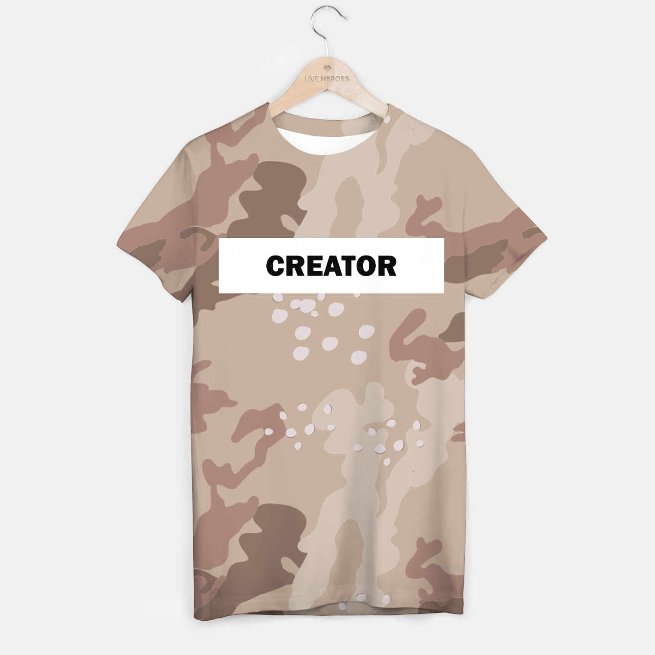 Image of Creator Camo T-shirt  - Live Heroes