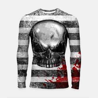 Miniature de image de blood stained bonehead Longsleeve rashguard , Live Heroes