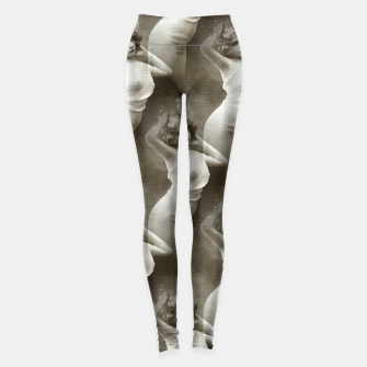 Thumbnail image of Art Deco Girl Vintage Beauty Leggings, Live Heroes