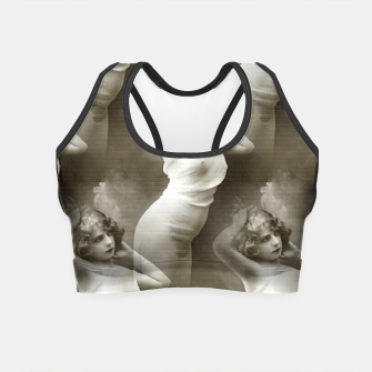 Thumbnail image of Art Deco Girl Vintage Beauty Crop Top, Live Heroes