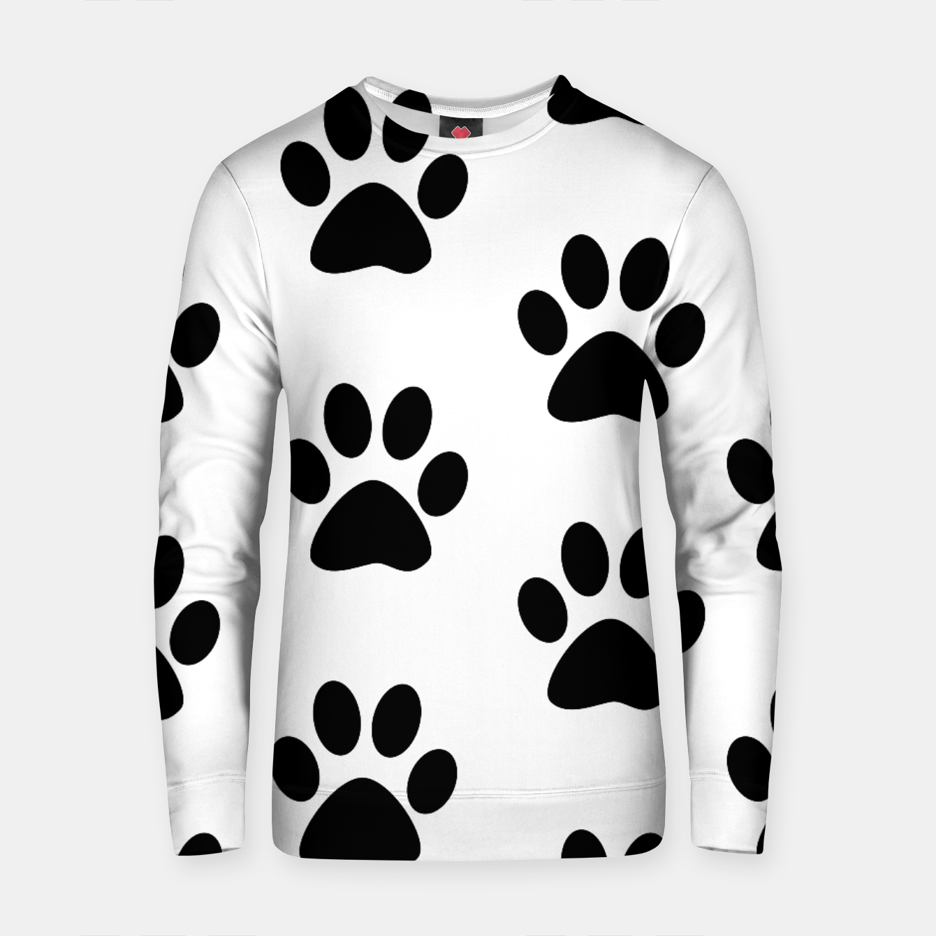 Zdjęcie Paws Black and White Cotton sweater - Live Heroes