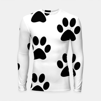 Thumbnail image of Paws Black and White Longsleeve rashguard , Live Heroes