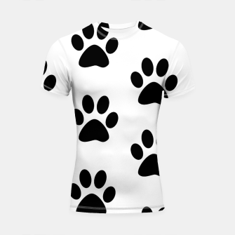 Thumbnail image of Paws Black and White Shortsleeve rashguard, Live Heroes