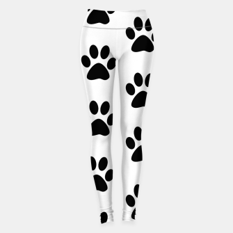 Paws Black and White Leggings obraz miniatury