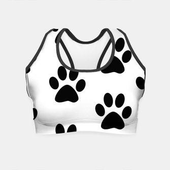 Paws Black and White Crop Top obraz miniatury