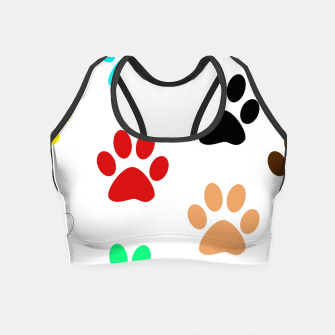 Thumbnail image of Paws Rainbow Crop Top, Live Heroes