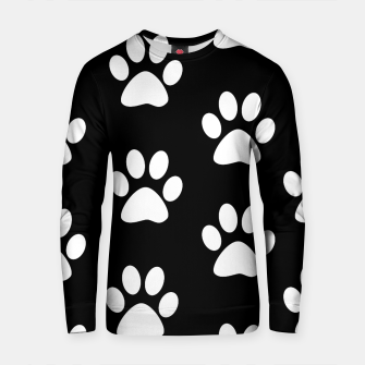 Thumbnail image of Paws Black and White On Black Background Cotton sweater, Live Heroes