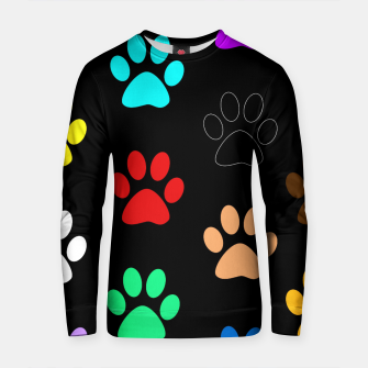 Thumbnail image of Paws Rainbow Black Background Cotton sweater, Live Heroes