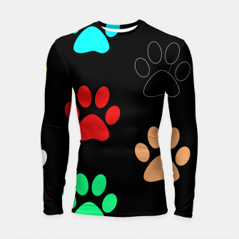 Thumbnail image of Paws Rainbow Black Background Longsleeve rashguard , Live Heroes