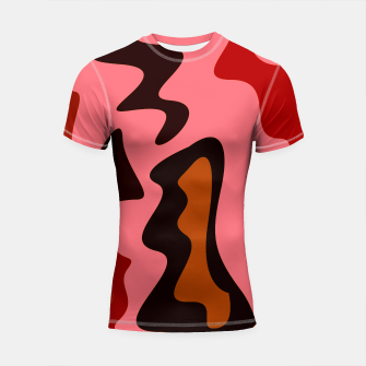 Thumbnail image of Rashguard with design blocks pink, Live Heroes