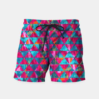 Miniatur Abstract Pattern Swim Shorts, Live Heroes