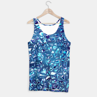 Miniatur Shattered Abstract Crystals Tank Top, Live Heroes