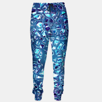 Miniatur Shattered Abstract Crystals Cotton sweatpants, Live Heroes