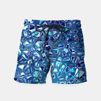 Miniatur Shattered Abstract Crystals Swim Shorts, Live Heroes