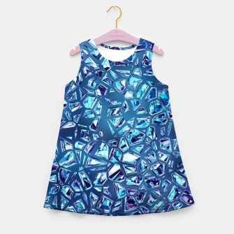 Miniaturka Shattered Abstract Crystals Girl's summer dress, Live Heroes