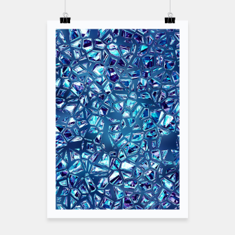 Miniature de image de Shattered Abstract Crystals Poster, Live Heroes