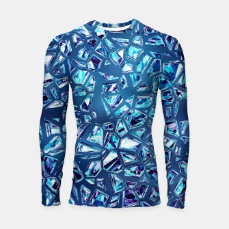 Miniature de image de Shattered Abstract Crystals Longsleeve rashguard , Live Heroes