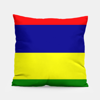 Miniature de image de Flag of Mauritius  Pillow, Live Heroes