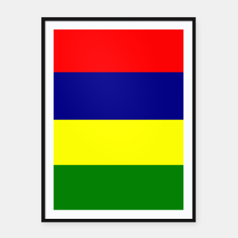 Thumbnail image of Flag of Mauritius  Framed poster, Live Heroes