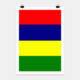 Thumbnail image of Flag of Mauritius  Poster, Live Heroes