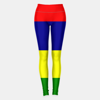 Thumbnail image of Flag of Mauritius  Leggings, Live Heroes
