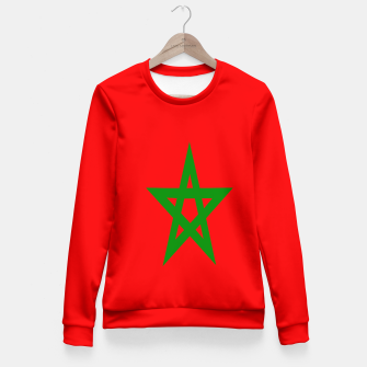 Thumbnail image of Flag of Morocco  Woman cotton sweater, Live Heroes