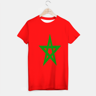 Thumbnail image of Flag of Morocco  T-shirt, Live Heroes