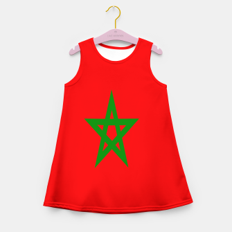 Thumbnail image of Flag of Morocco  Girl's summer dress, Live Heroes