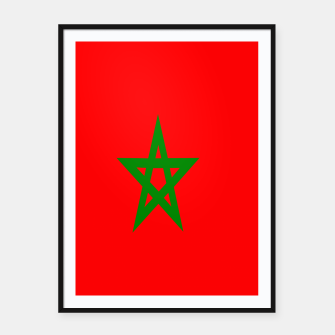 Thumbnail image of Flag of Morocco  Framed poster, Live Heroes