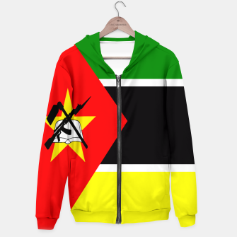 Thumbnail image of Flag of Mozambique  Cotton zip up hoodie, Live Heroes