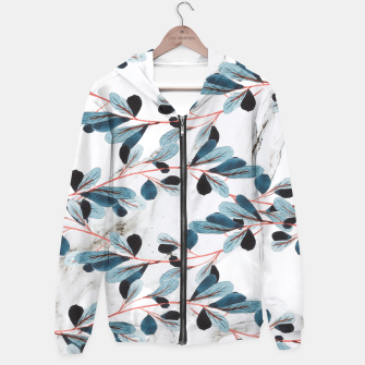 Miniatur Botanical Lines Cotton zip up hoodie, Live Heroes