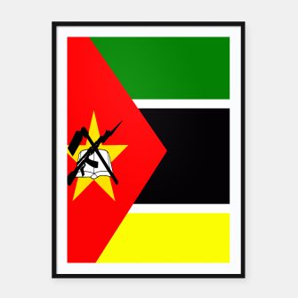 Thumbnail image of Flag of Mozambique  Framed poster, Live Heroes
